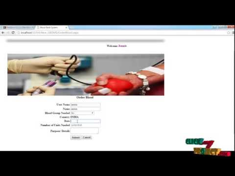 Online Blood, Banking System | Final Year Projects 2016
