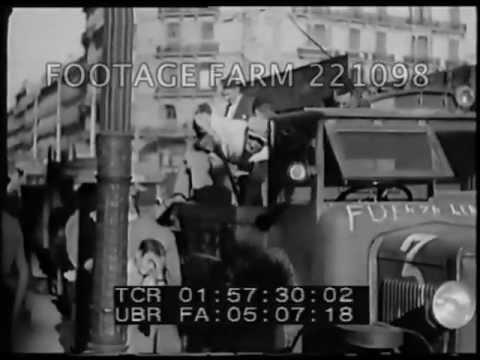 Spanish Civil War: Republican Activity Around Barcelona 221098-10 | Footage Farm