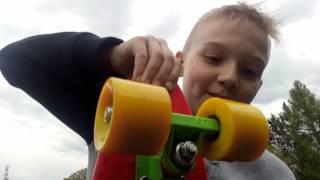 Самый простой урок катания на skateboard и penny board.