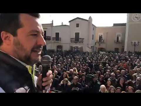 MATTEO SALVINI in diretta da FERRANDINA (MATERA, 22.03.2019)