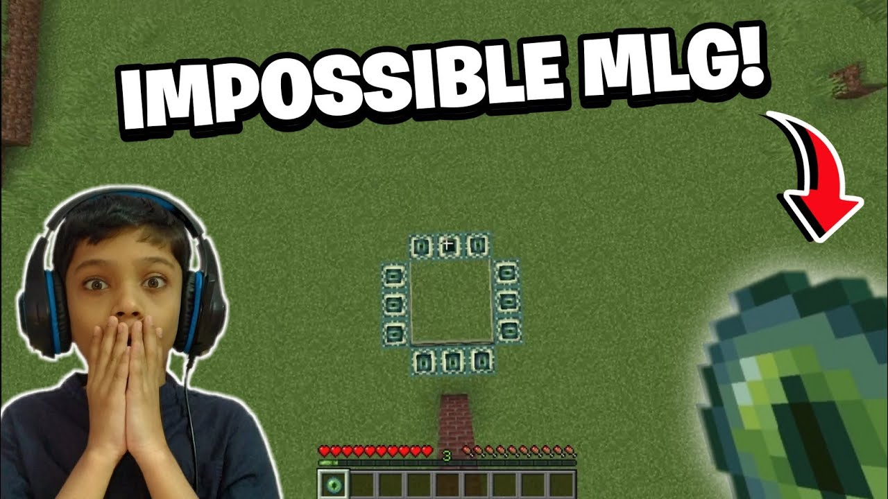 Trying IMPOSSIBLE mlg in MINECRAFT!