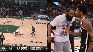 Kyrie Irving almost ended Thanasis' career with that crossover 😮 Nets vs Bucks Game 4