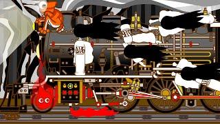 こわいふみきり Various Railroad Crossing and train. railway level crossover 踏切 踏み切り 電車 でんしゃ ふみきり アニメ 列車 SL