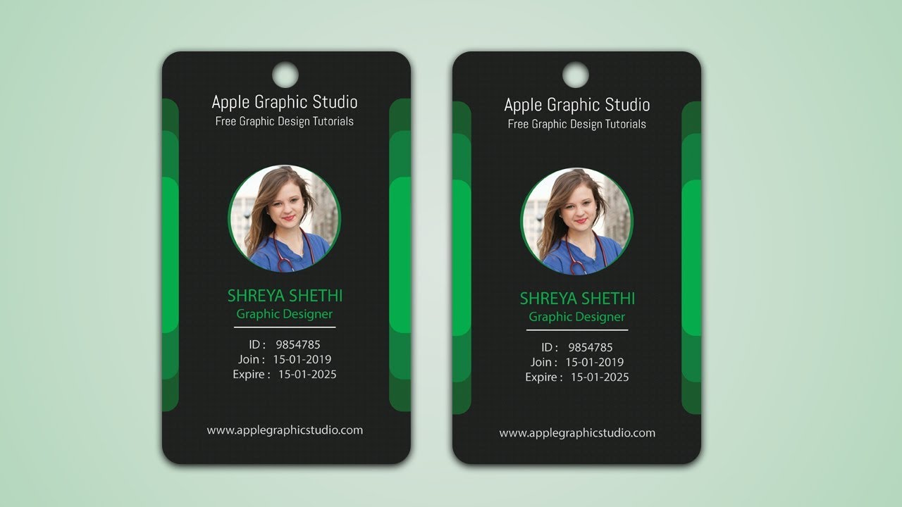 Make Your Own ID Badge - Photoshop Tutorial - YouTube
