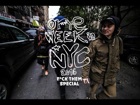 trailer ONE WEEK IN NYC 2016 F*CK THEM special