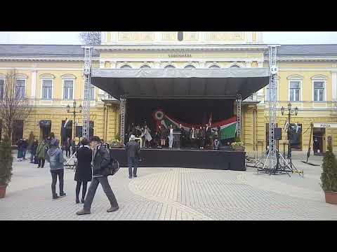 State ceremony rehearsal, a lot of mistakes (Hungary March 15 at 8:00 in the morning)