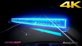"Nicolight 300w 52"" Curved LED light bar 30000 Lumens - Detailed Look in 4K"