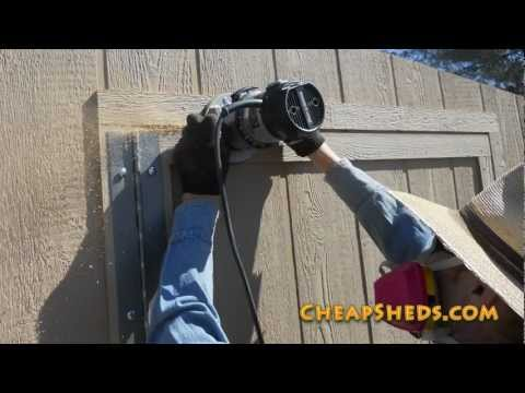 Building A Garden Shed Door Video Part 2