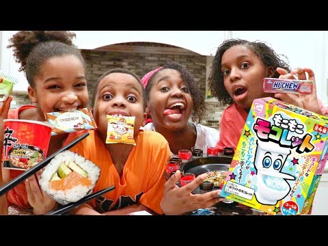 WEIRD JAPANESE CANDY TASTE TEST - TOY CHALLENGE GAME! - ONYX ADVENTURES