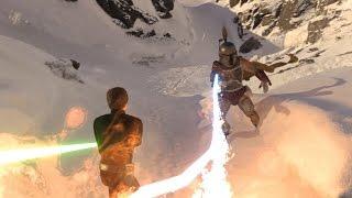 star wars battlefront luke vs boba fett epic battle