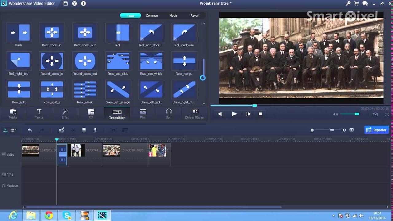 logiciel montage gratuit video cv