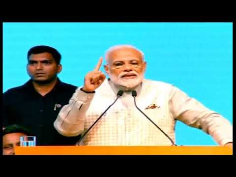 PM Shri Narendra Modi addresses Traders Sammelan in Talkatora Stadium, New Delhi : 19.04.2019