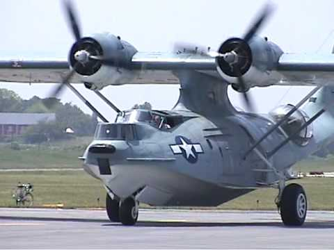 PBY Catalina Starting Engines, Taxi, and Fly-by, June 2005