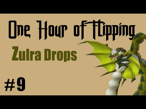 [OSRS] INSANE PROFITS FLIPPING ZULRAH DROPS ONLY!  [ Episode #9 ] A One Hour Flipping Challenge