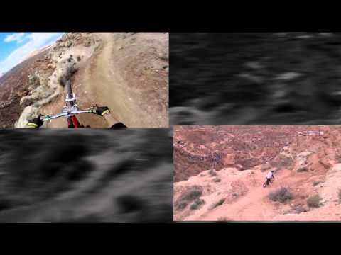 Dual view: GoPro Backflip Over 72ft Canyon - Kelly McGarry Red Bull Rampage