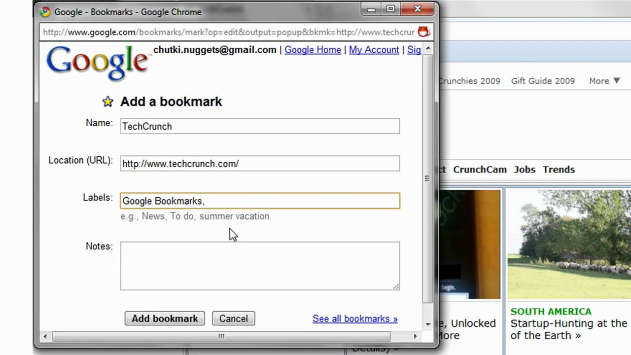 how to add chrome bookmarks to google bookmarks