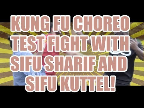 Kung Fu Test Fight with Sifu Sharif and Sifu Kuttel