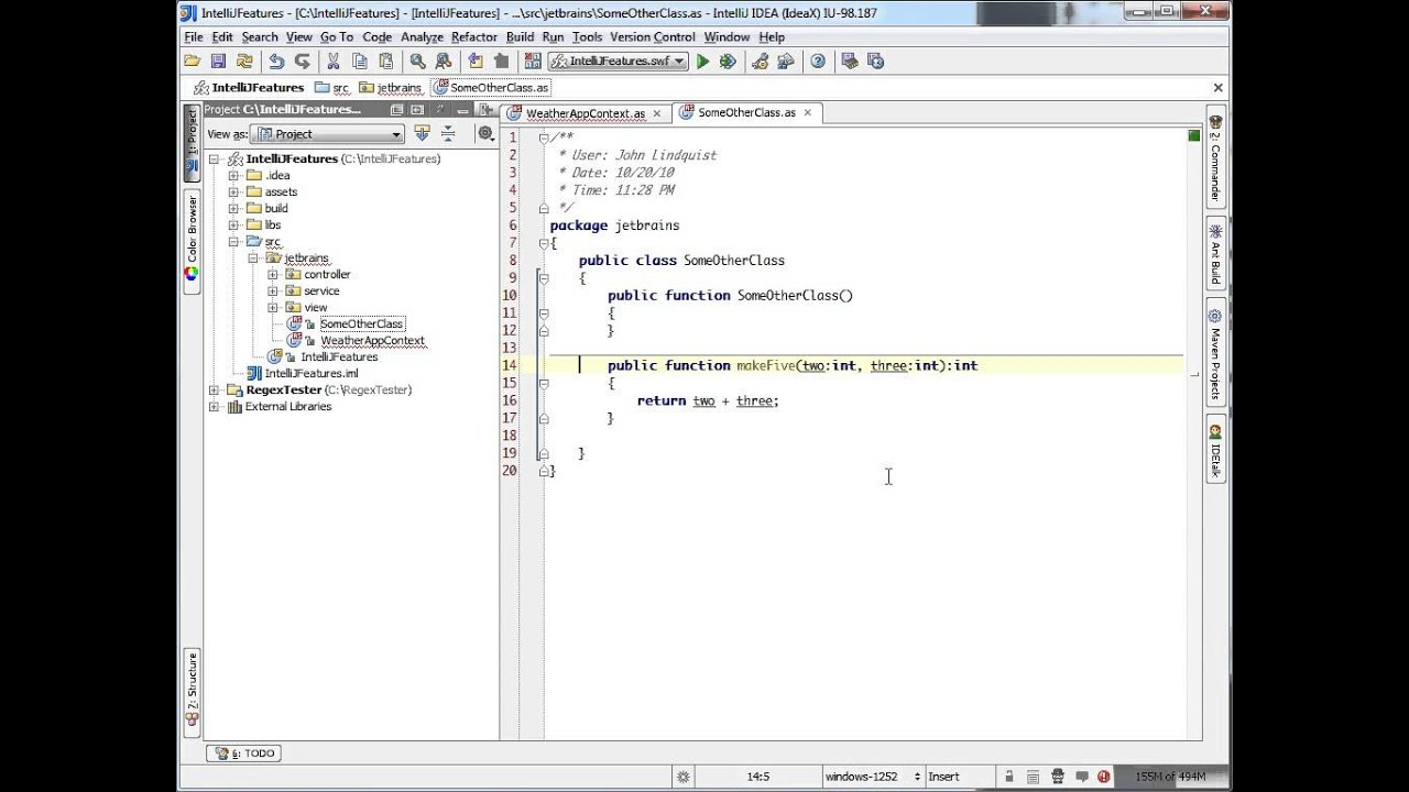 Refactoring - Inline (IntelliJ IDEA)