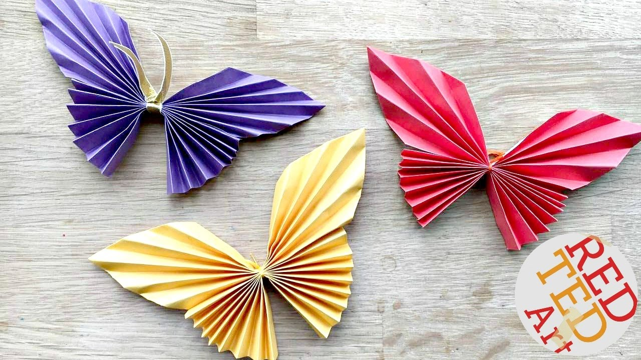 Easy paper butterfly origami cute  diy for beginners youtube also rh