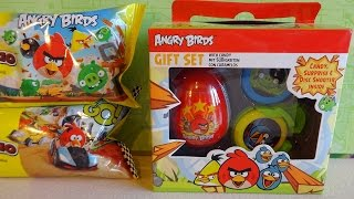 Angry Birds Gift Set Surprise Eggs & Toys Mix Unboxing Huevos Sorpresa