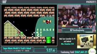 Awesome Games Done Quick 2015 - Part 134 - Yoshi's Island (Blindfolded) by DavisKongCountry