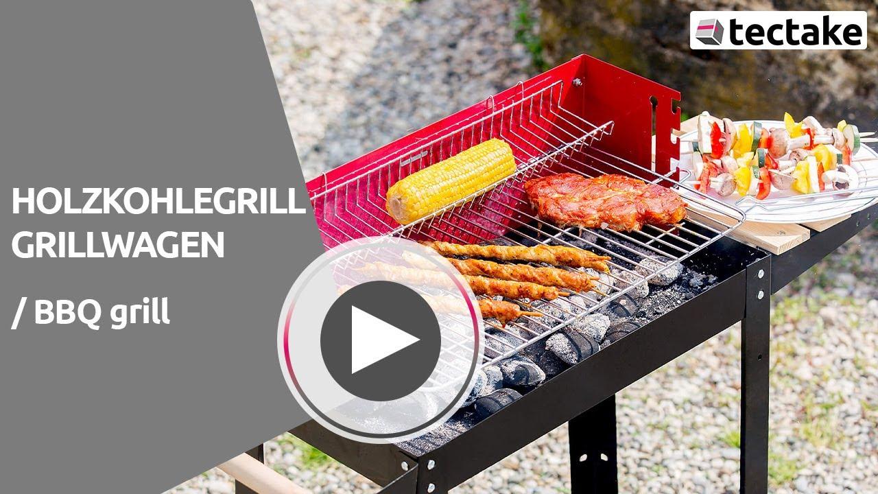 Aldi Bbq Holzkohlegrill Test : Holzkohlegrill grillwagen tectake youtube