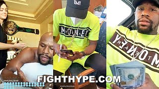 FLOYD MAYWEATHER: A DAY IN HIS LIFE - MASSAGES, BANK TRIPS, MAYBACH MUSIC & CHECKIN ON HATERS