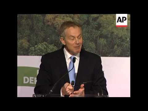 Former UK PM Tony Blair summitt speech