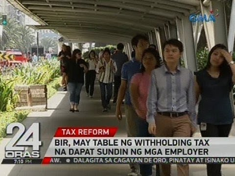 BIR, may table ng withholding tax na dapat sundin ng mga employer
