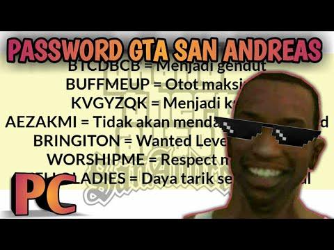 PASSWORD GTA SAN ANDREAS Di Komputer PC
