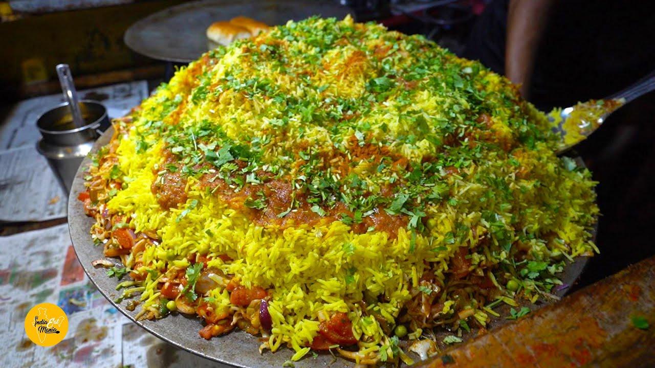 HUGE Tawa Pulao Making Rs. 15/- Only l आपने इतना सस्ता तवा पुलाव कभी नहीं खाया होगा l Bhavnagar Food