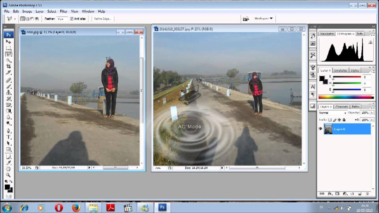 tutorial cara menggabungkan 2 foto menjadi satu dengan adobe photoshop cs3