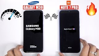 Redmi Note 7 Pro vs Galaxy M30 Speedtest Comparison & RAM Management