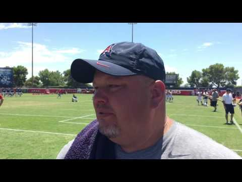Arizona QB Coach Rod Smith 8-20-16