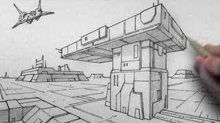 How to Draw Backgrounds (2-point Perspective)