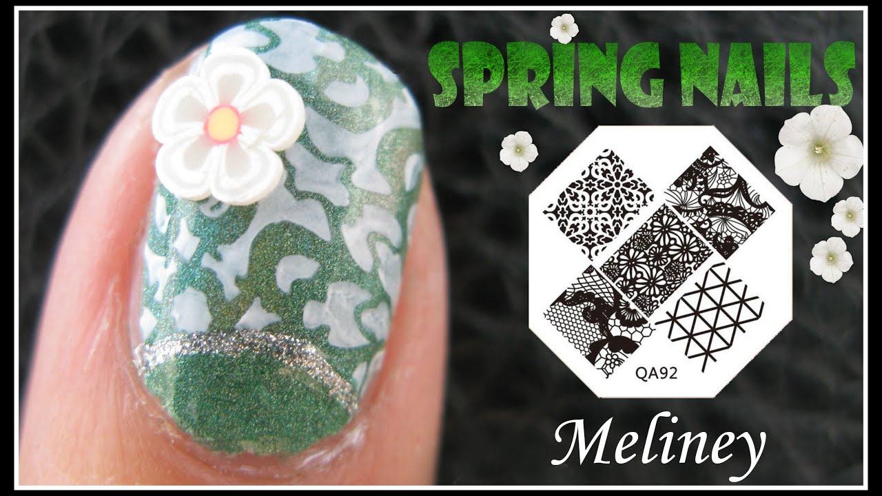 Spring nails flower print konad stamping nail art design spring nails flower print konad stamping nail art design tutorial short nails image plate qa92 youtube prinsesfo Gallery