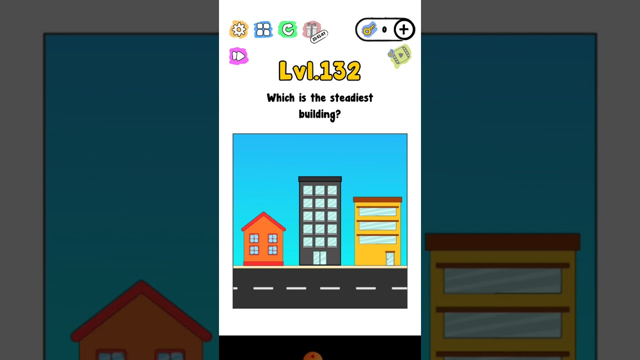 Trick me level 132 which is the steadiest building walkthrough solution