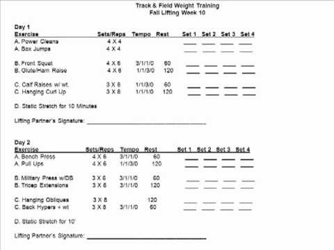 Sprinter strength training program