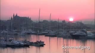 Sunrise in Palma de Mallorca in March