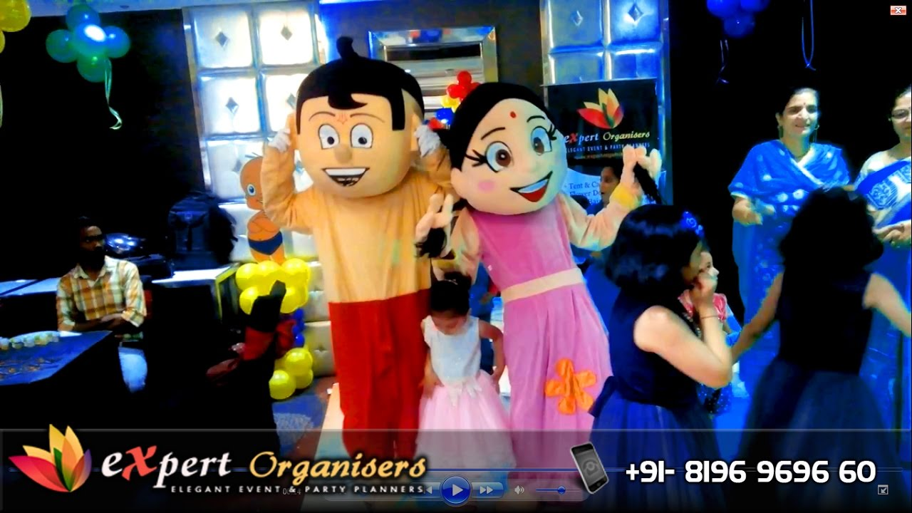 Chhota Bheem Theme Expert Birthday Balloon Decorations At Toy Hotel