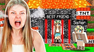 TROLLING MY LITTLE SISTER'S BEST FRIEND IN MINECRAFT!