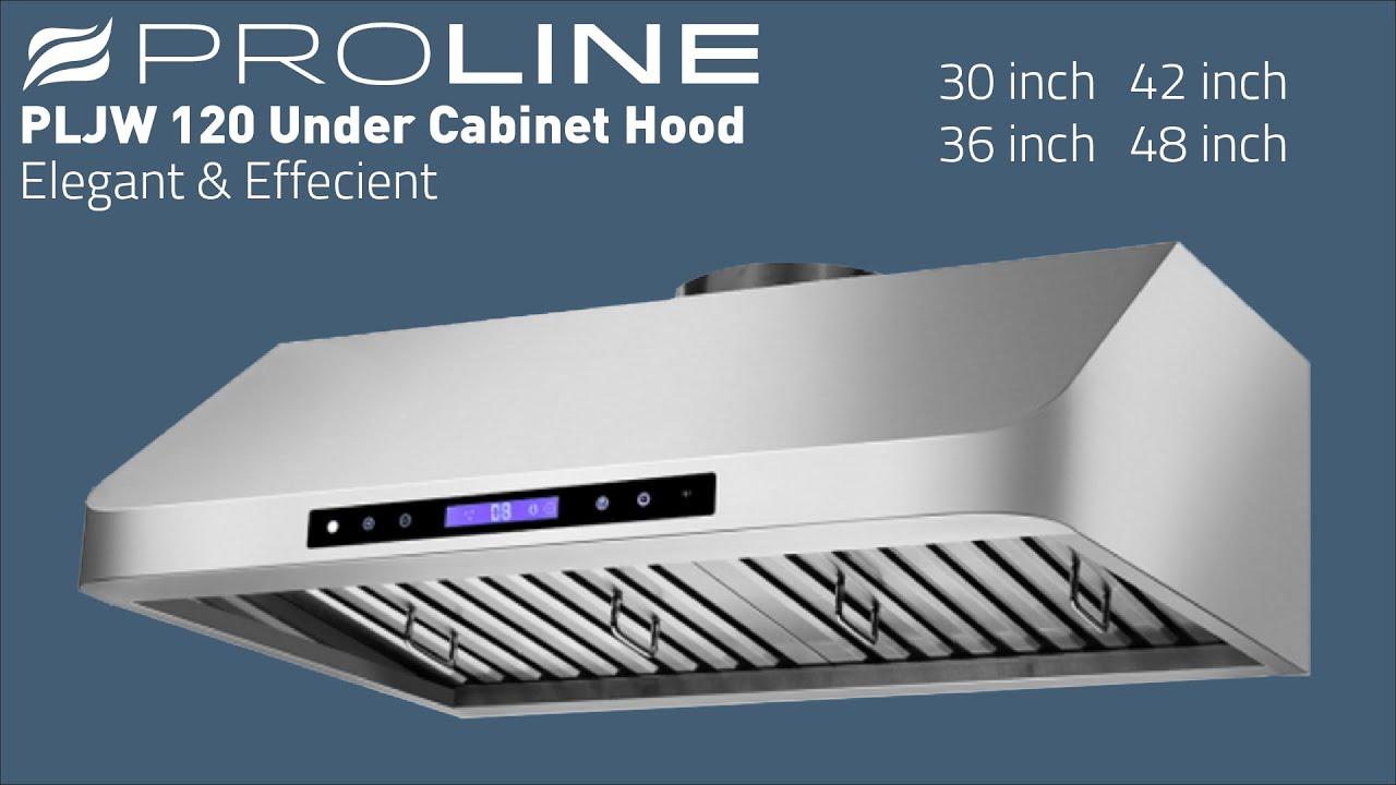 PLJW 120 Under Cabinet Range Hood - YouTube