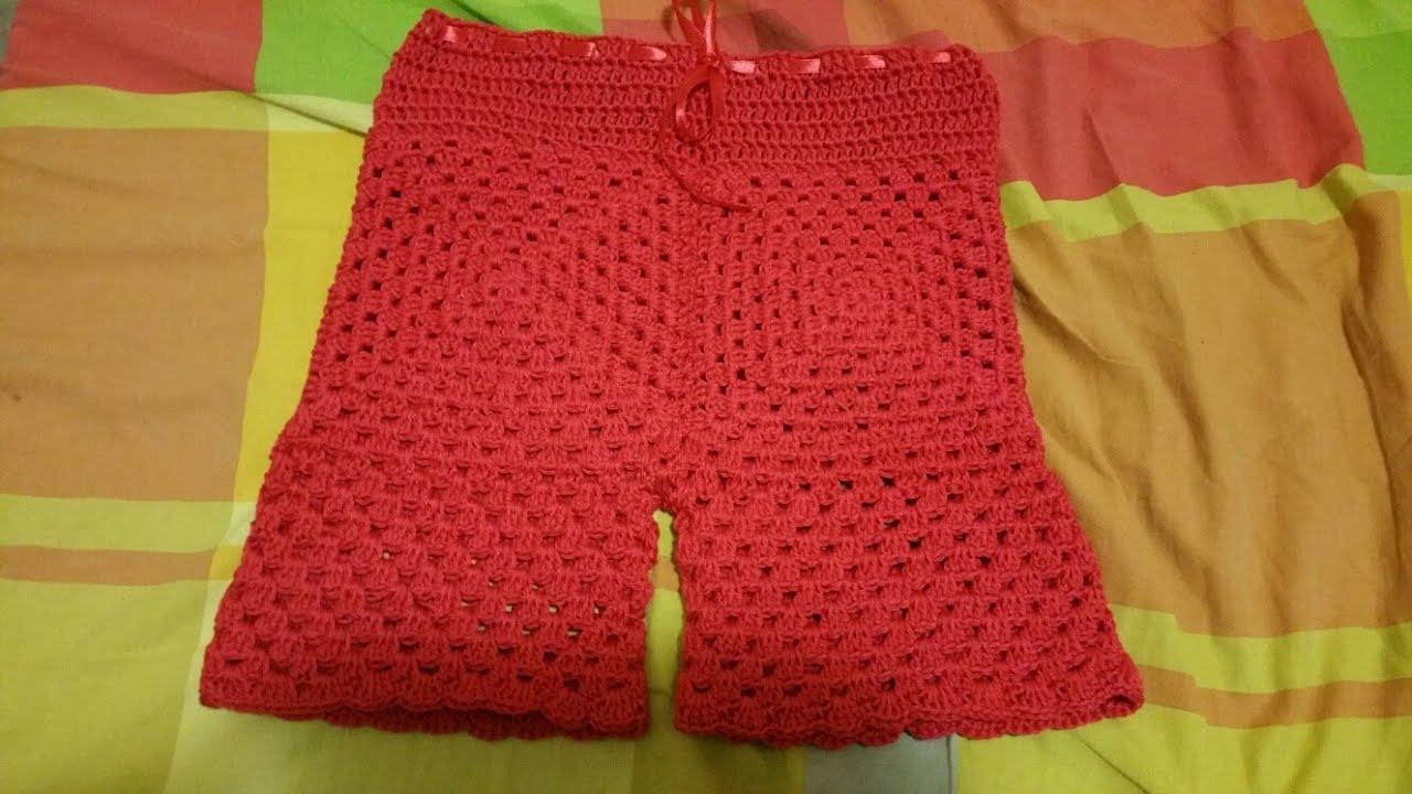 scarpe sportive d5b3a e4e53 Pantaloncino bimba uncinetto/crochet Short baby