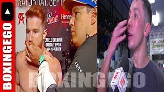 WOW!!! Gennady Golovkin INSISTS Canelo Alvarez CHEATED in 1st fight; took PILLS?