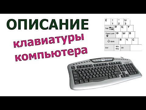 Описание клавиатуры компьютера