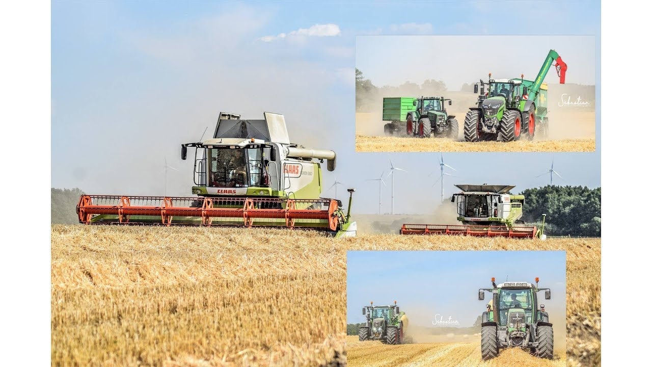 Big Harvest !! 2 x Claas Lexion  2x Krone Presse Hawe Fendt 1046,724 etc
