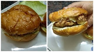 KFC Style Chicken Burger Recipe | Crispy Chicken Burger | Ramzan Special Recipes