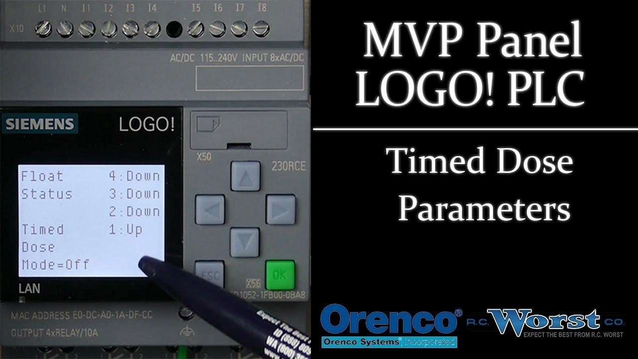 orenco mvp panel logo plc timed dose parameters [ 1280 x 720 Pixel ]