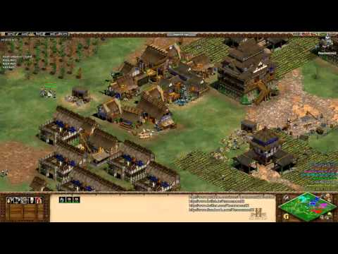 Aoe2 HD: 4v4 Black Forest (Japanese, Economic Boom) (8/28/13)