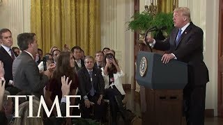 President Trump Clashes With CNN's Jim Acosta, Other Journalists At Fiery Press Conference | TIME